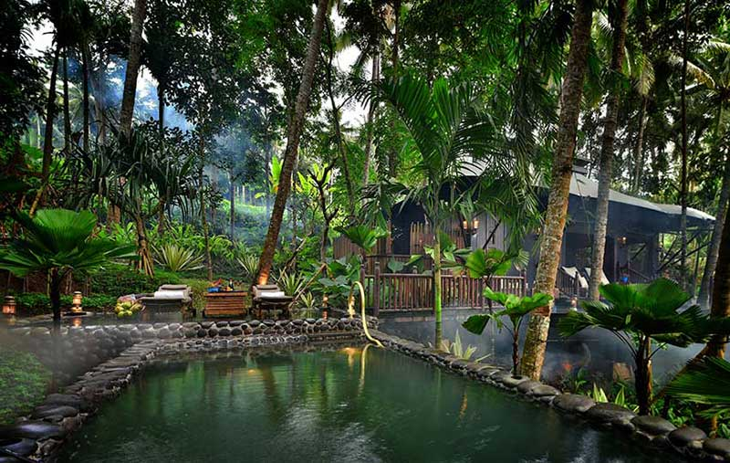 Private salt water pool at Capella Ubud